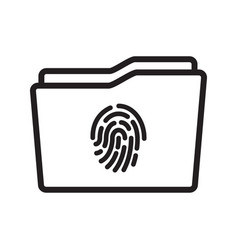 touch id on folder icon vector image