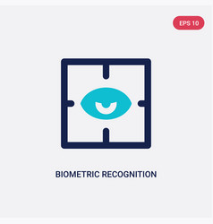 Two color biometric recognition icon from cyber vector