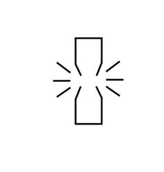 unlink icon vector image