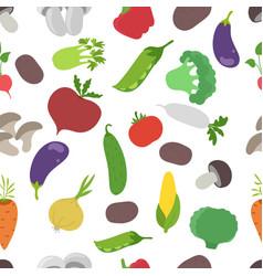 vegetable set market garden harvest seamless vector image