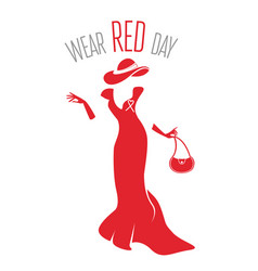 wear red day vector image