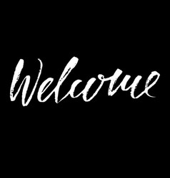 welcome inscription greeting card vector image