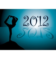 yoga background with new year 2012 date vector image vector image
