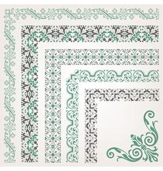 Decorative seamless islamic ornamental border vector image vector image