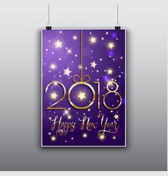happy new year flier background vector image