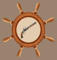 icon pirate pistol vector image