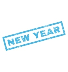 New Year Rubber Stamp vector image vector image