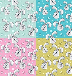 Rabbit pattern design vector image vector image