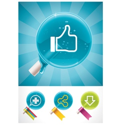 social media lollipops vector image vector image