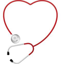 stethoscope heart symbol vector image