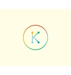 Abstract letter K logo design template Colorful vector image vector image