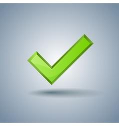 Check mark sign on light blue background vector image