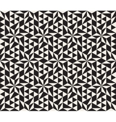 Seamless Black and White Geometric Star vector image