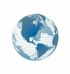 world map globe vector image vector image