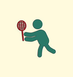 Badminton player in action logo - super lightning vector
