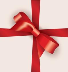 bow and ribbon vector image