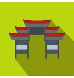 Chinese temple icon flat style vector image