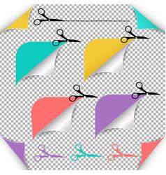 corners and scissors vector image