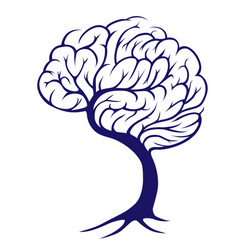 tree brain vector image vector image