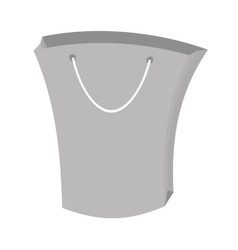 bag gift shopping papper gray color vector image