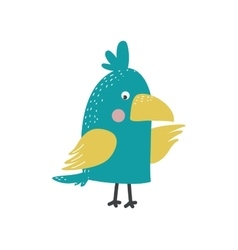 Cartoon parrot isolated bird vector image vector image