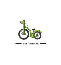 custom bike vector image vector image