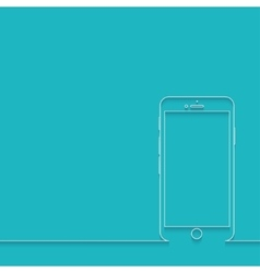 modern smartphone on blue vector image vector image