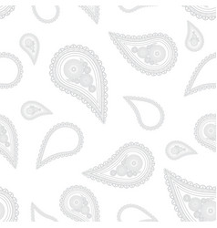 paisley hand drawn on white background hand drawn vector image vector image