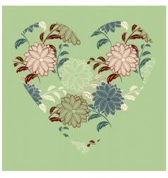 vector vintage heart vector image vector image