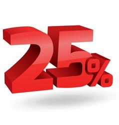 2875 25 percent vector image