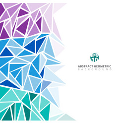 Abstract purple blue green geometric and vector