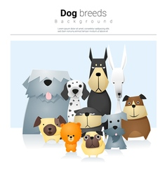 Animal background with dogs 2 vector image