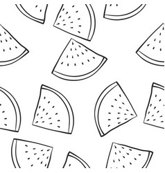 Art fruit of doodles vector