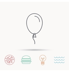 Balloon icon Party decoration sign vector