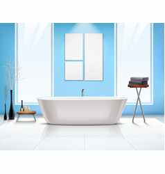 Bathroom interior composition vector