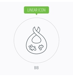Bib with dirty spots icon Baby clothes sign vector