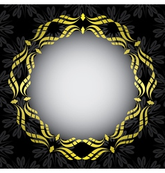 black card with golden frame in the center vector image