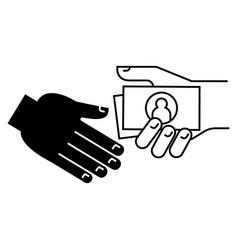 Bribe - gratuity - pension icon vector