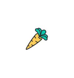 carrot icon design gastronomy icon design vector image