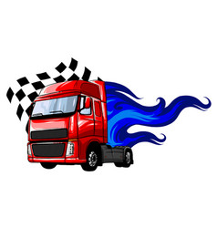 cartoon semi truck format separated by vector image