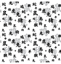 Chinese Zodiac Seamless vector image