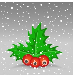 Christmas berry vector image