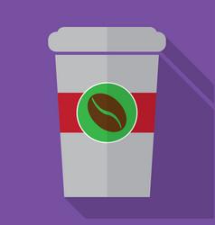 coffe flat icon design vector image