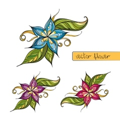 Colorful stylized flower for decoration vector image