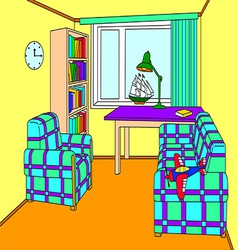 Cosy room for a boy vector