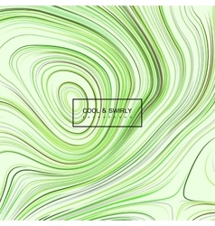 Curled green iridescent pattern vector image