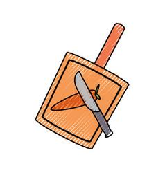 cutting board vector image