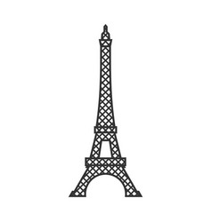 Eiffel tower isolated paris attractions landmark vector