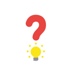 flat design concept of question mark with yellow vector image