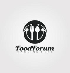 Food forum logo designrestaurant icon vector